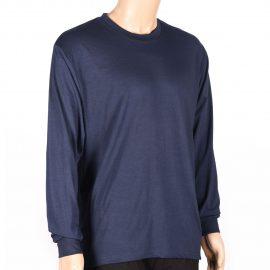 Camiseta azul manga larga